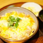 新橋 鶏繁 どんぶり子 - 味噌親子丼 (¥1,200)
