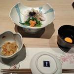 おたる政寿司 - [料理] 前菜 小鉢・いか素麺・浸けダレ