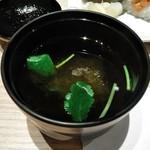 おたる政寿司 - [料理] とろろ昆布 & 三つ葉のお吸い物 アップ♪w