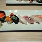 おたる政寿司 - [料理] この日のお勧め7貫 プレート全景♪w