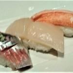 おたる政寿司 - [料理] ニシン・帆立・ずわい蟹