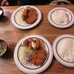 宝亭 - 牡蠣、海老、ヒレカツ