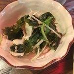 たこ焼酒場 しん家 - お疲れちゃんセット(*´ω`*)小鉢1 水菜とワカメ ブタ