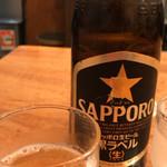 香湯ラーメン ちょろり - 瓶ビール2018.4.5