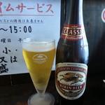 ら~めん からしや - 瓶ビール2018.4.8
