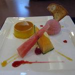 蕎彩庵 - デザート盛り合わせ