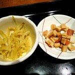 日本料理 岩戸 銀座店 - 日本料理 岩戸 銀座店 ランチに付くカレーモヤシと沢庵