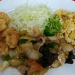 珉楽 - 料理写真:八宝菜定食 750円