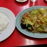 珉楽 - 野菜炒めと小ライス