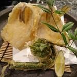 魚貝三昧 げん屋 - キスの天ぷら