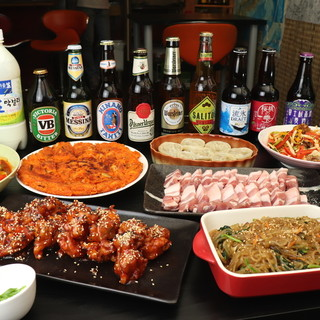 本場韓国家庭料理をお届け★飲み放題付きコースで大満足♪