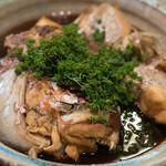 うを徳 - 2018.4 明石の鯛のカブト煮付け 花山椒