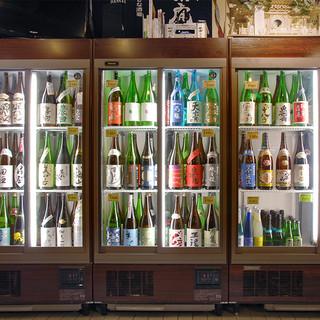 日本酒100種以上常備!いろんな日本酒と出会えます