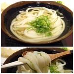 香川 一福 - ◆麺は滑らかで程よいコシがあり、好み。 お出汁は優しい味わい。生姜を足すと丁度いいですね。