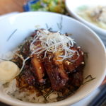 焼鳥 みなと - 地鶏うどんと照り焼き丼セット 1000円