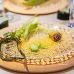 レストラン トヨ トーキョー - ヤングコーン、 空豆、 里芋、 ミモレット