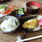 アウグス谷中ビアホール - 今週の焼き魚定食 ¥1,200 +税 (さわら)