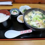 かよさん - 親子うどんセット(600円)