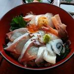 ほたるの里 - 「山うに海鮮丼」の海鮮丼