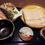 83875424 - 野菜天もりうどん(ひもかわ)…1000円※各種大盛 150円増し