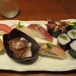 築地寿司清 - 季節の握り1728円(税込)