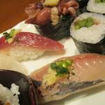 築地寿司清 - 鯵・鰹