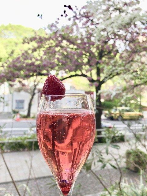 オー バカナル 紀尾井町 - 八重桜とハナミズキに乾杯♪