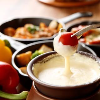 チーズメニューが豊富♪チーズフォンデュやお鍋が人気♪