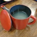 仁や - 蕎麦湯はサラッとタイプ