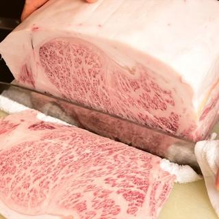 A5ランクの中でも★11~12ランクの特選牛肉