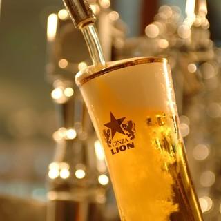 銀座ライオンこだわりの生ビール!