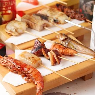 20種以上から選べる魚串