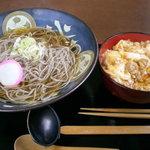 ごまそば屋 麺衛門 - 料理写真:親子丼セット 750円