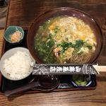 山商蕎麦店 - 天ぷら玉子とじ 定食  ¥1100