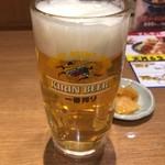 天丼てんや - 生ビール(中) 430円。