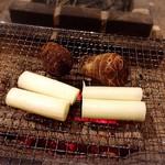 囲炉裏料理わ - 里芋と信長葱!