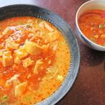 長秀龍 - <参考>マーボ担々麺(大盛)とセット担々麺の比較