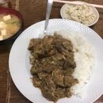 ニカカレーショップ - 本場カレーセット「780円」 味噌汁が美味い。 カレーもね。