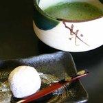 蔦屋茶寮 - 烏羽玉とお抹茶セット
