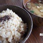 やさいとお酒  ひだまりカフェ - 美味しい玄米ご飯&味噌汁