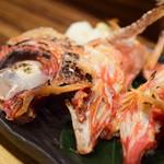 魚がし厨房 湊屋 - 金目鯛かぶと焼き@980円+税