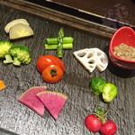 よね蔵 - 産直旬野菜~くるみ味噌ディップソース~ 850円+税