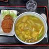 おか茂 - 料理写真:カレーうどんwithミンチカツ