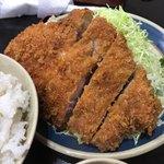 三州屋 - 味噌ジャンボとんかつ定食(ロース)