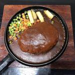 三州屋 - ジャンボハンバーグ定食(400g)  ¥1200