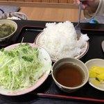 三州屋 - ジャンボハンバーグ定食(400g)のご飯