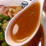 FUJI ICHIBAN - 【2018.4.10(火)】味噌らーめん(並盛)$9.50のスープ