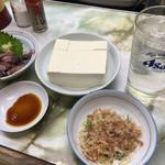 小松 - ホタルイカ¥350、冷奴¥350、チューハイ¥390