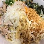 RAMEN 風見鶏 - (汁無) まぜろんちーの (*´ω`*) 麺大 麺見せ