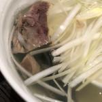 肉匠の牛たん たん之助 - テールスープ